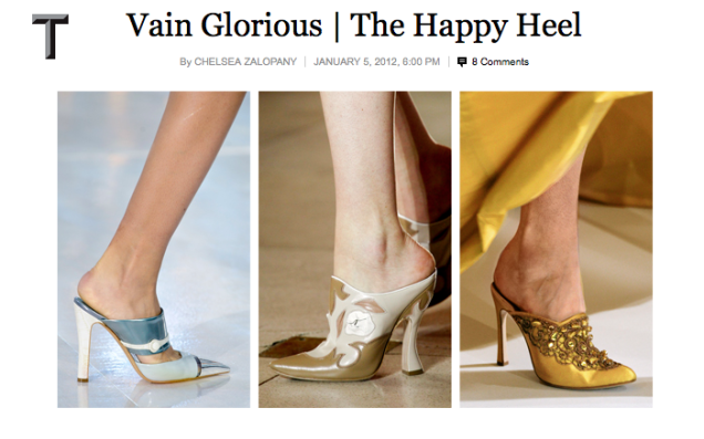 NYT Article - Vain Glorious | The happy Heel