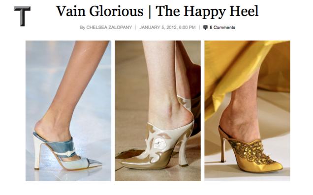 NYT Article - Vain Glorious | The happy Heel